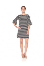 Lark & Ro Women's 3/4 Bell Sleeve Scoop-Neck Shift Dress - My look - $65.00