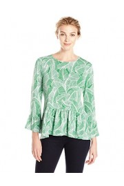 Lark & Ro Women's 3/4 Sleeve Ruffle Hem Top - My look - $49.50