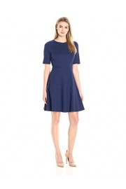 Lark & Ro Women's Elbow-Sleeve Textured Full Flare Dress - My look - $57.98