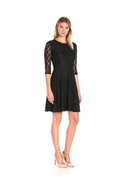 Lark & Ro Women's Lace 3/4-Sleeve Knit Fit-and-Flare Dress - My look - $54.50