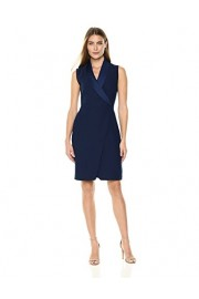 Lark & Ro Women's Short Faux Wrap Dress With Extended Shoulder - My look - $49.00