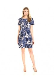 Lark & Ro Women's Short Sleeve Center Gather Fit and Flare Dress - My look - $49.00