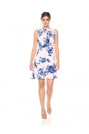 Lark & Ro Women's Sleeveless Gathered Front Fit and Flare Dress - My look - $69.00