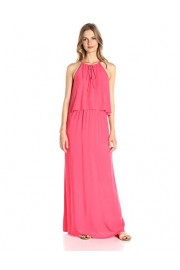 Lark & Ro Women's Sleeveless Tie-Front Halter Maxi Dress - My look - $59.00