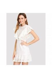 Laser Cut Insert Flounce Dress - Passarela - $39.00  ~ 29.45€