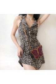 Leopard Lapel Retro Backless Buttoned A- - My时装实拍 - $35.99  ~ ¥241.15