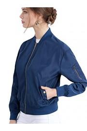 Lock and Love Women's Classic Lightweight Jacket Multi Pocket Windbreaker Bomber Jacket - Il mio sguardo - $28.75  ~ 24.69€