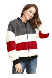 Lock and Love Women's Soft Long Sleeve Zip-up Faux Minx Fur Fleece Winter Jacket - Il mio sguardo - $29.95  ~ 25.72€