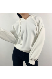 Loose hooded fleece sweater - O meu olhar - $35.99  ~ 30.91€