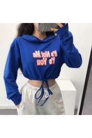 Loose hooded hem with short sweatshirt - Mi look - $19.99  ~ 17.17€