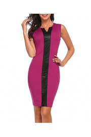 LuckyMore Women's Business Wear to Work Sleeveless V Neck Bodycon Pencil Dress - Il mio sguardo - $18.99  ~ 14.34€