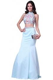 Meier Women's 3D Flower Two Piece Mermaid Evenging Formal Prom Dress - Moj look - $209.00  ~ 1.327,69kn