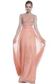 Meier Women's Cap Sleeve Illusion Rhinestone Pageant Formal Prom Dress - Moj look - $249.00  ~ 1.581,79kn