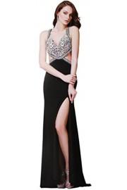 Meier Women's Cut Out Side Sheer Rhinestone Top Pageant Formal Prom Dress - Moj look - $299.00  ~ 1.899,42kn