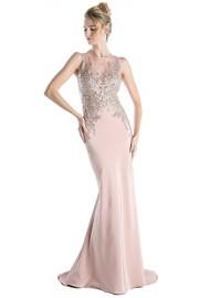 Meier Women's Embroidery Sheer Back Sleeveless Evening Party Dress - Moj look - $169.00  ~ 1.073,58kn