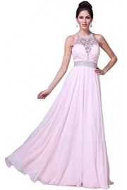 Meier Women's Halter Rhinestone Open Back Pageant Prom Party Dress - Moj look - $179.00  ~ 1.137,11kn