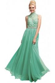 Meier Women's High Neck Embroidery Beaded Prom Evening Formal Dress - Moj look - $219.00  ~ 1.391,21kn