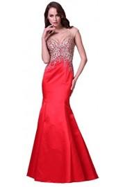 Meier Women's Mermaid Open Back Rhinestone Sleeveless Evening Formal Dress - Moj look - $269.00  ~ 1.708,84kn