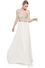 Meier Women's Rhinestone Sheer Top Pageant Prom Evening Party Dress - Moj look - $139.00  ~ 883,01kn