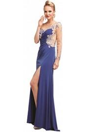 Meier Women's Single Sheer Sleeve Beaded Evening Formal Prom Party Dress - Moj look - $169.00  ~ 1.073,58kn