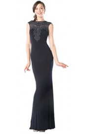 Meier Women's Sleeveless Sheer Back Beaded Evening Dress - Moj look - $179.00  ~ 1.137,11kn