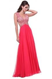 Meier Women's Sleeveless Sheer Back Rhinestone Prom Evening Formal Dress - Moj look - $259.00  ~ 1.645,32kn