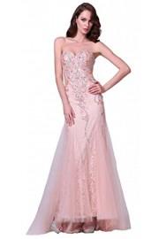 Meier Women's Strapless Lace Rhinestone Mermaid Formal Gown Prom Dress - Moj look - $299.00  ~ 1.899,42kn