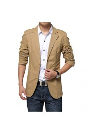 Mens Casual 2 Buttons Slim Fit Jacket Autumn Cotton Blazer Sport Coat - My时装实拍 - $29.99  ~ ¥200.94