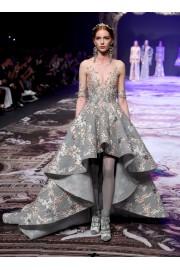 Michael Cinco Fall 2017 grey dress  - Catwalk -