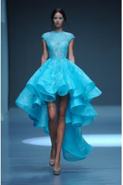 Michael Cinco Summer 2015 blue dress  - Catwalk -