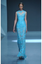 Michael Cinco Summer 2015 blue gown  - Catwalk -