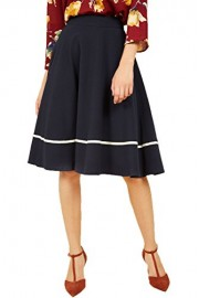 Missufe Work Skirts For Women High Waist Flared Knee Length - Il mio sguardo - $19.99  ~ 17.17€
