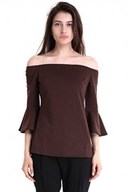 Mooncolour Women's Off The Shoulder Bell Sleeve Tunic Top - My look - $2.99