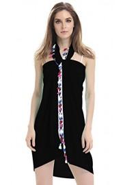 Mooncolour Women's Sheer Tassel Sarong Beach Pareo Swimsuit Wrap - My look - $14.99