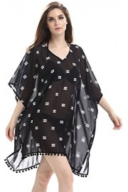 Mooncolour Women's Summer Printed Tassel Swimsuit Bikini Beach Swimwear Cover up - My look - $7.99