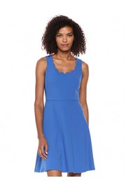 NINE WEST Women's Fit & Flare Dress with Scalloped Neckline - Mi look - $19.99  ~ 17.17€