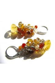 Natural Citrine Stone Cluster Earrings - Minhas fotos - $46.00  ~ 39.51€