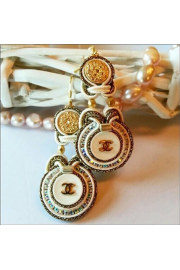 New earrings made of authentic buttons. - My photos -