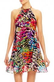 Nicole Miller Plage Women's Tropical Palms Viscose Dress Swim Cover up - My look - $320.00