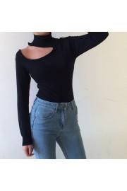 One-shoulder cleat collar collar openwor - My look - $27.99