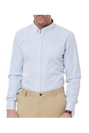 PAUL JONES Men's Casual Check Pattern Long Sleeve Button-Down Collar Shirts - My look - $9.99