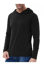 PAUL JONES Men's Elastic Long Sleeve Hooded Sweatshirt T-Shirt Tops - My look - $9.99