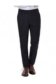 PAUL JONES Men's Hidden Expandable Waist Flat Front Dress Pant for Casual Work - My look - $18.99
