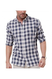 PAUL JONES Men's Long Sleeve Slim Fit Button Down Casual Cotton Plaid Shirt - My look - $13.99