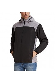 PAUL JONES Men's Outdoor Breathable Lightweight Waterproof Hoodies Rain Jacket - My look - $15.99