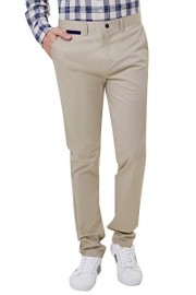 PAUL JONES Men's Slim Fit Tapered Stretchy Casual Cotton Pant - My look - $20.99