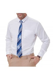 PAUL JONES Men's Solid Color Long Sleeve Spread Collar Dress Shirt with Pocket - My look - $9.99
