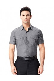PAUL JONES Mens Solid Color Short Sleeve Cotton Shirt Tops - My look - $9.99