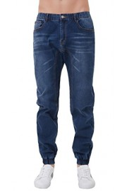 PAUL JONES Men's Vintage Stylish Drop Crotch Cotton Denim Pants Jogger Jeans - My look - $30.88