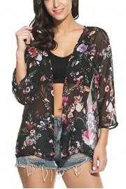 PEATAO Beach Cardigan for Women Women?s Bikini Cardigan Women?s Chiffon Cover up Shawl Kimono Cardigan Blouse Cover-Ups - Mein aussehen - $15.81  ~ 13.58€